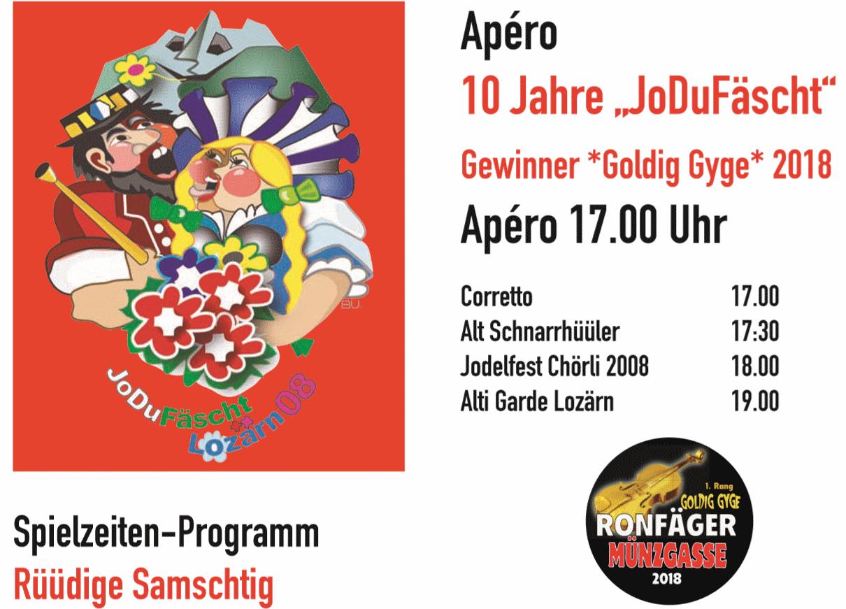 """Apéro Samstag  - 10 Jahre """"JoDuFäscht"""""""